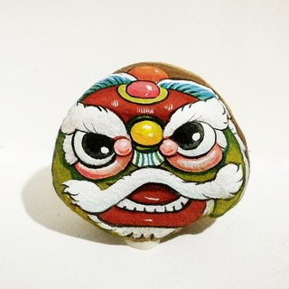 Chinese lion  stone painting.