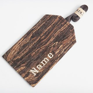 Personalized Name Wooden Cork Luggage Tag Luggage