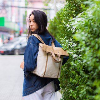 BACKPACK / ZINC - FOLD&HOLD / MIDDLE BROWN - BEIGE (ZN170302)