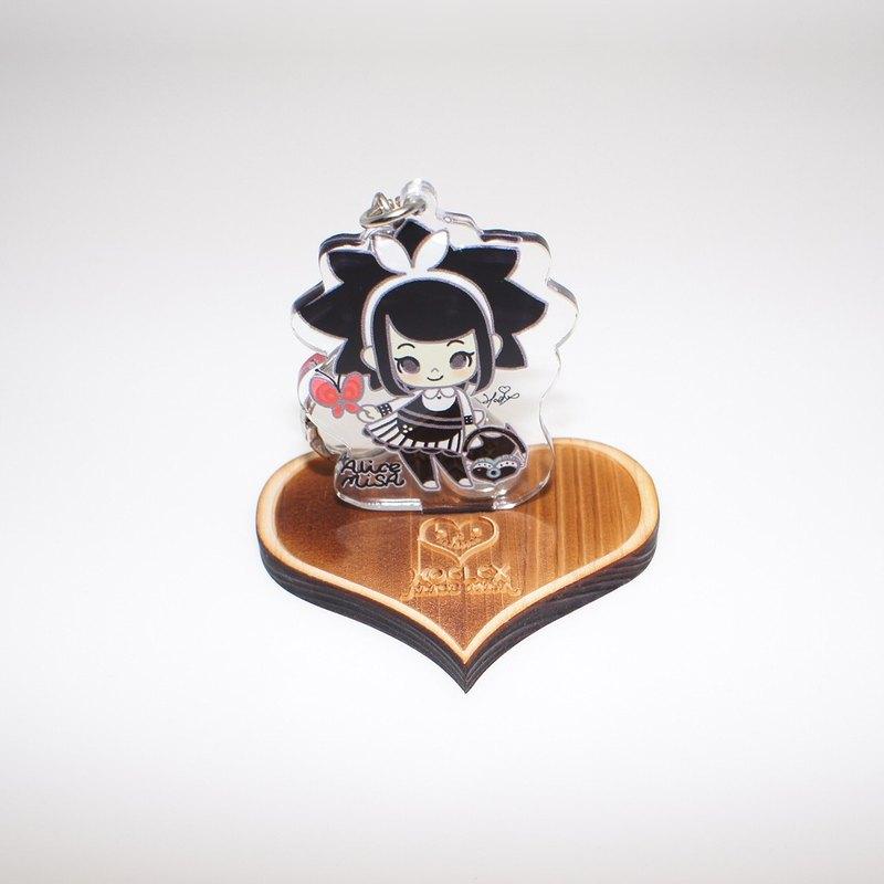 黑米莎BmisA造型壓克力鑰匙圈+日本檜木香氣底座