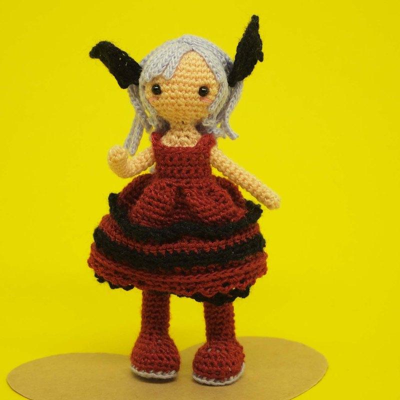 鉤針娃娃/ amigurumi /鑰匙鏈/魔鬼的女孩/玩偶
