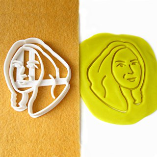 Custom Portrait Cookie Cutter, Personalized with Your Face, Birthday Party Gift