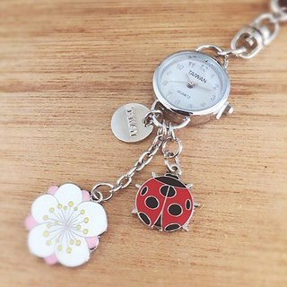 Small watch strap / key ring -Plum Blossom