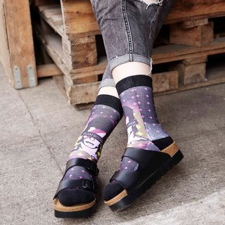 Hong Kong Design | Fool's Day stamp socks -Glam Rocker 00174