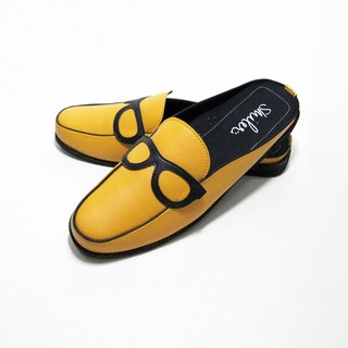 Glasses half-sandals - Yellow