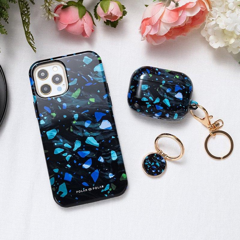 iPhone / Samsung 防摔手機殼 深海水磨石