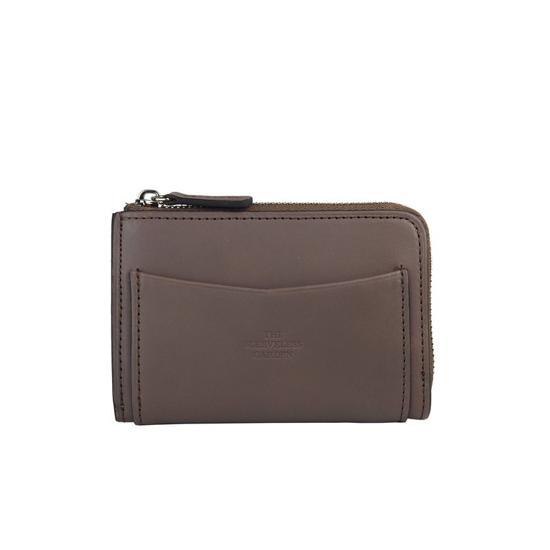 Coin zip purse /Brown