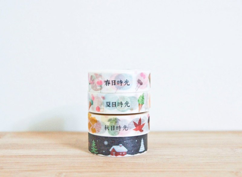 Jiang design. Time seasons paper tape