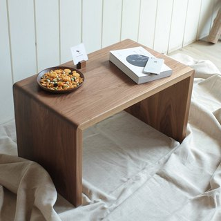 Pre-purchase money - the original wooden table side / table / short table / small furniture - walnut