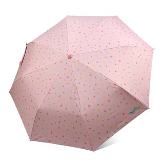 [Taiwan Wen Chong Rain's talk] anti-summer play geometric anti-UV three fold automatic opening umbrella powder love