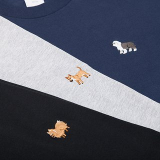【Make Your Own】Dog Embroidery T-shirt (Customized)