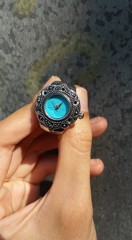 【Lost And Find】Natural gemstone Turquoise ring watch