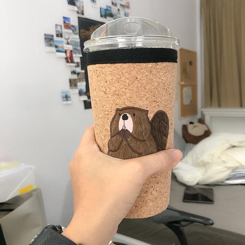 咖啡杯套,Nong Beaver,22 盎司,冷藏架,Elder 尺寸