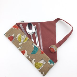 Flowers and Birds - Environmentally Friendly Tableware Bags