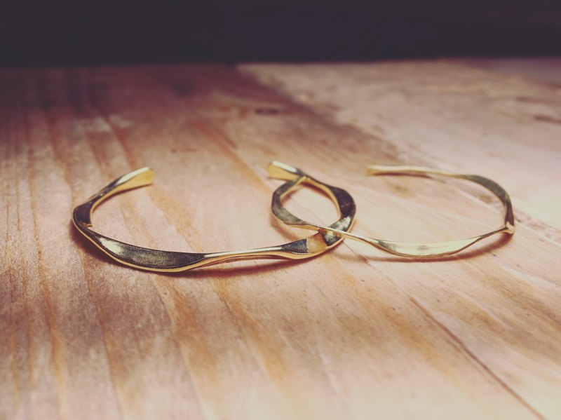 Forging wave bracelet Waving Bangle