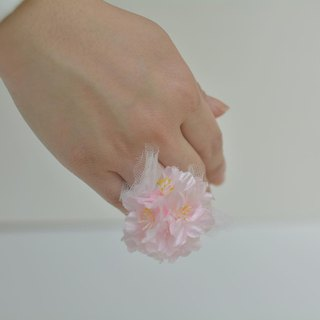 Baum flower ring pink