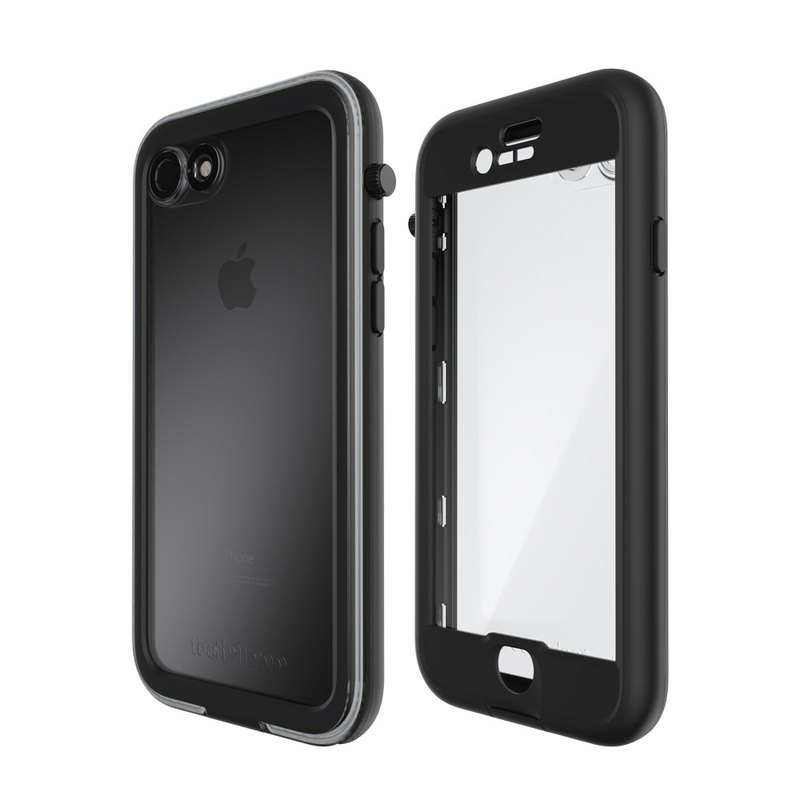 Tech21 UK Super Impact EVO AQUA iPhone 7 Waterproof Crash Hard Case - Black (5055517365017)