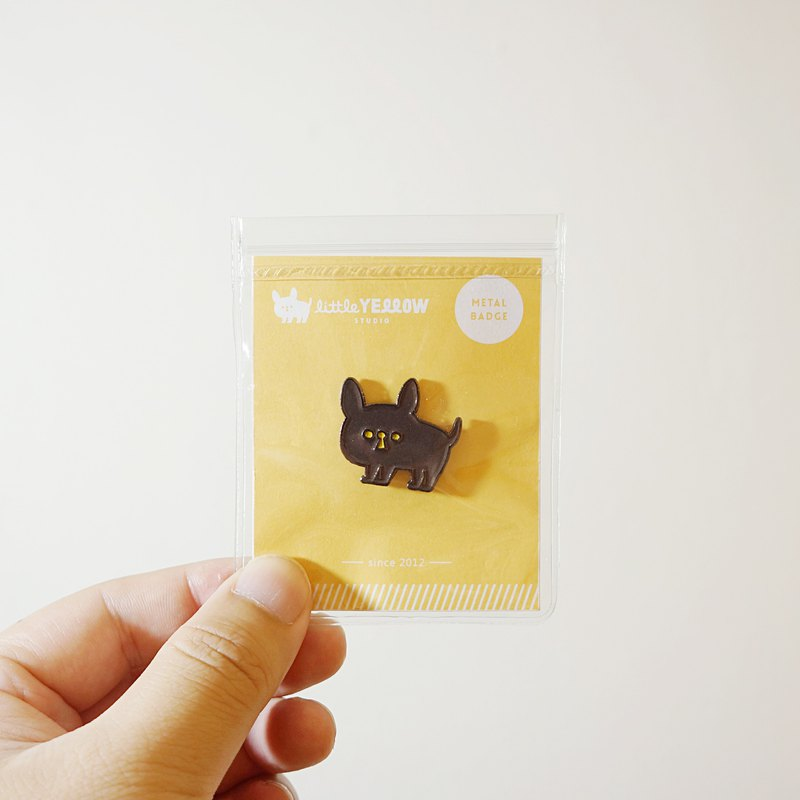 【second edition】little yellow metal badge