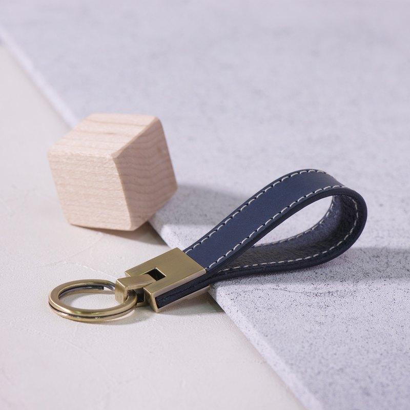 長條鑰匙圈 Long Key Chain - 深藍 Blue / 免費刻字 交換禮物/ 免費刻字 | 聖誕禮物 |