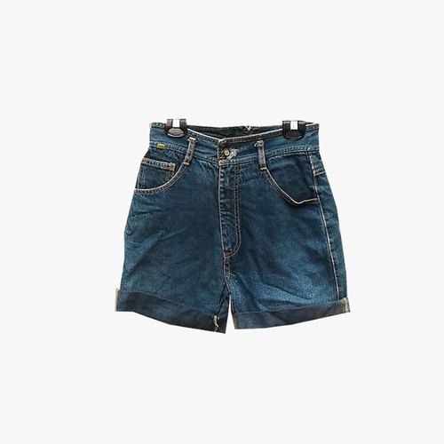 Dislocated vintage / ancient denim shorts no.02 vintage