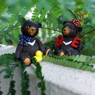 Taiwan black bear blue-collar LOVE