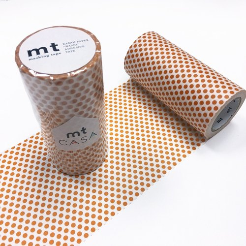 KAMOI mt CASA tape 100mm【Dot - Mandarin (MTCA1100)】