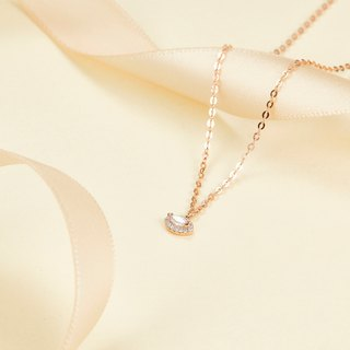 【PurpleMay Jewellery】18k Yellow Gold Triangle Diamond Pendant Necklace P008