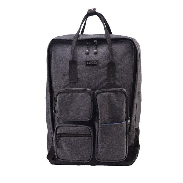 "SOLIS [ Texas Series ] 15"" casual laptop backpack(Black Denim)"