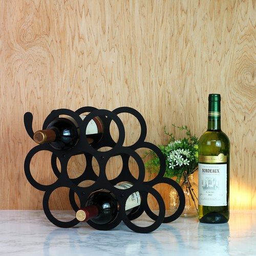 [OPUS Dong Qi Metalworking] Harvest (Grape) Wine Rack - Black / Wine Cabinet Decoration / Decorations / Wine Rack