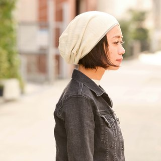 Made in JAPAN 100% Organic Cotton Slouchy Beanie - Eco-Friendly Clothing