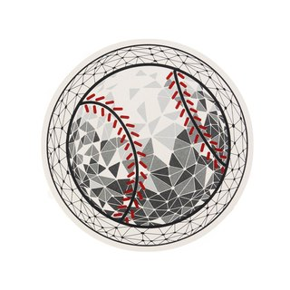 Baseball Water Absorbent Coaster