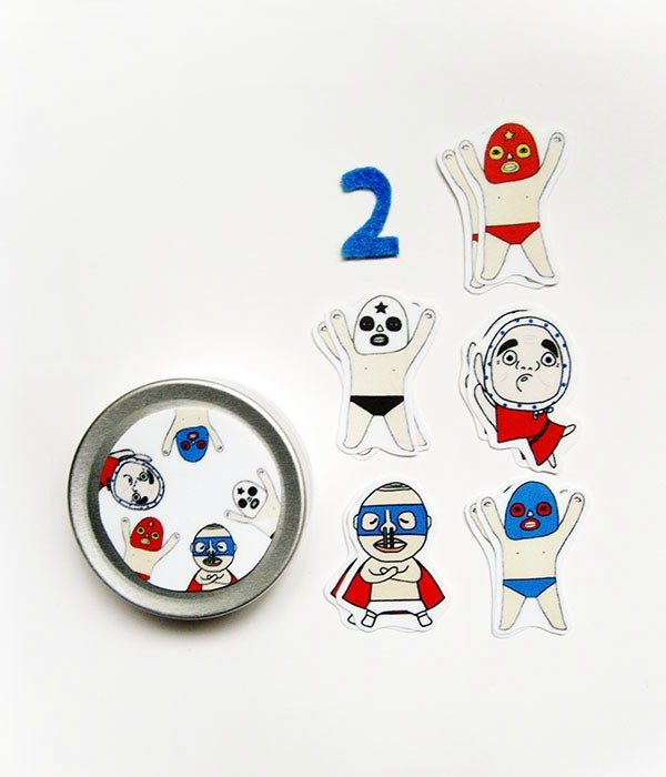 Waterproof sticker red blue people