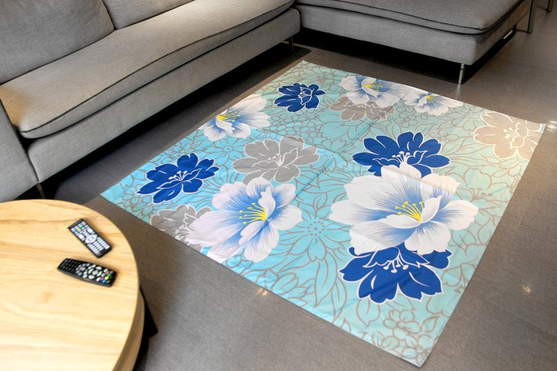 Nuhox roar lion [box pad] blue peony - picnic mat, camp pad and furnishings pad