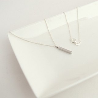 Necklace/Silver925 Bar Necklace/飾品 項鍊 銀 酒吧