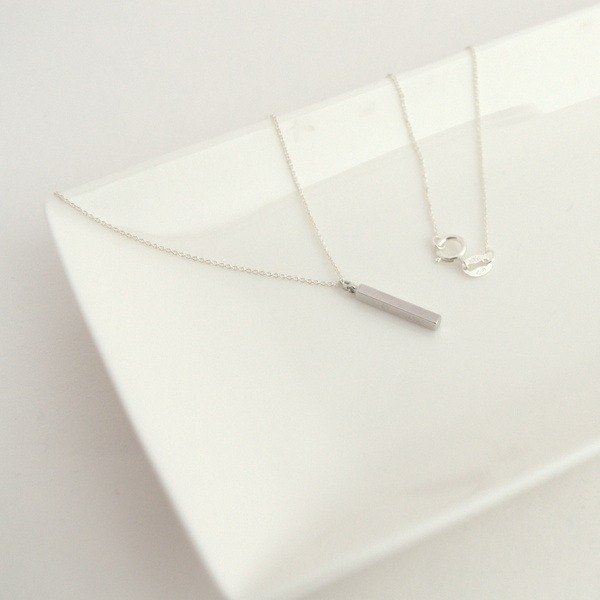 Necklace Silver925 Bar Necklace/飾品 項鍊 銀 酒吧