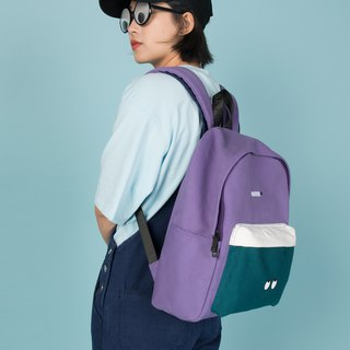 KIITOS Tokyo Love New Contrast Embroidered Print Backpack - Purple HATER Eye Shoulder Bag