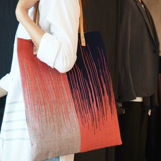 Handwoven  Zig Zag  Pattern Tote bag