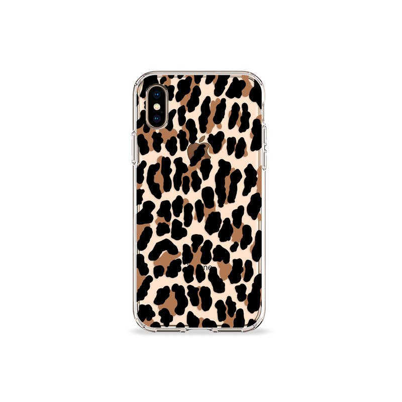 Leopard Print Clear iPhone Case Csera