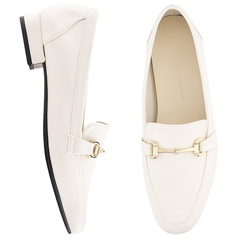 PRE-ORDER SPUR Simple chain loafer PS9016 IVORY