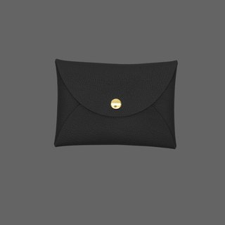 Customized real leather goatskin macaron black card holder / wallet / card holder / card case