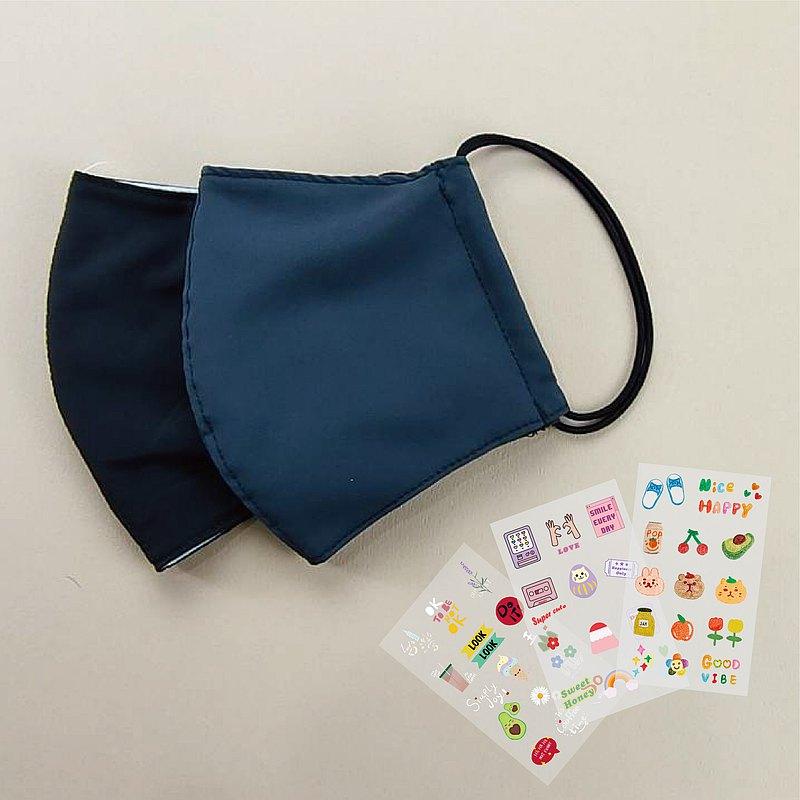 防潑水透氣立體抗菌3用口罩燙印貼組合 伴手禮