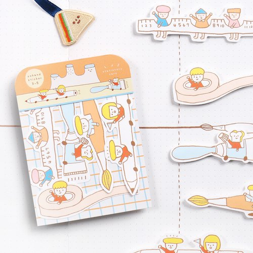 Stationery Car / Medium Sticker Set 3-5