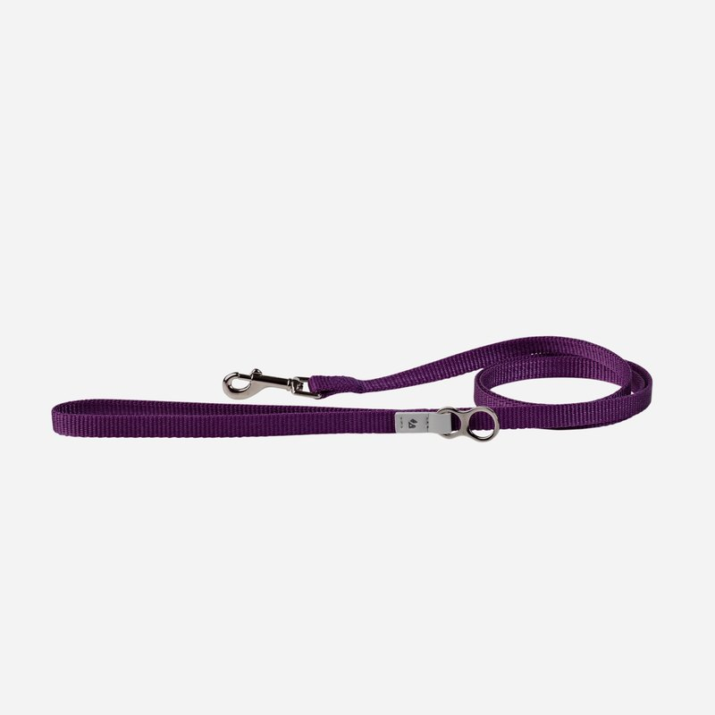 [Tail and me] Classic nylon belt leash deep purple XS