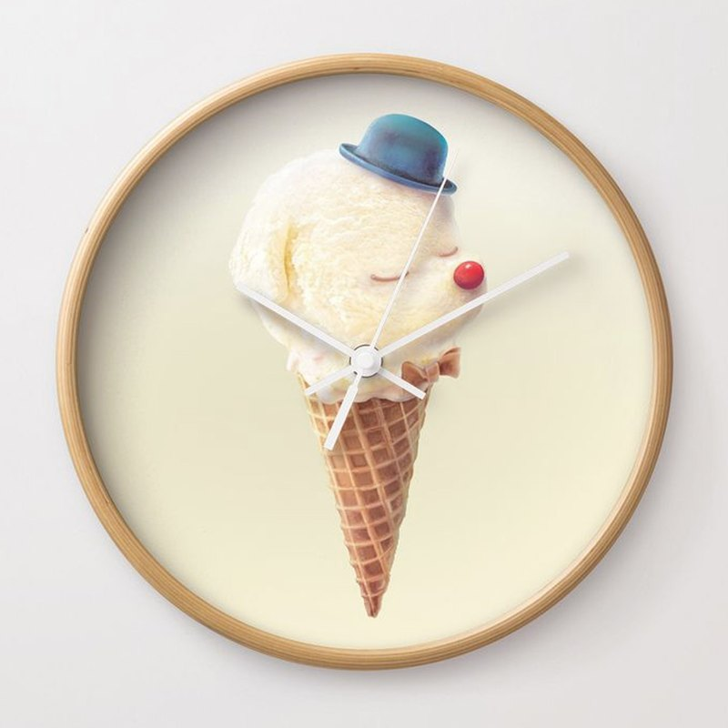 Cute ice cream wall clock