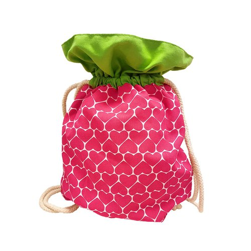 Ang Ku Kueh Girl's B.F.F. Drawstring Bag (Strawberry) 水果系列 草莓 抽绳包包
