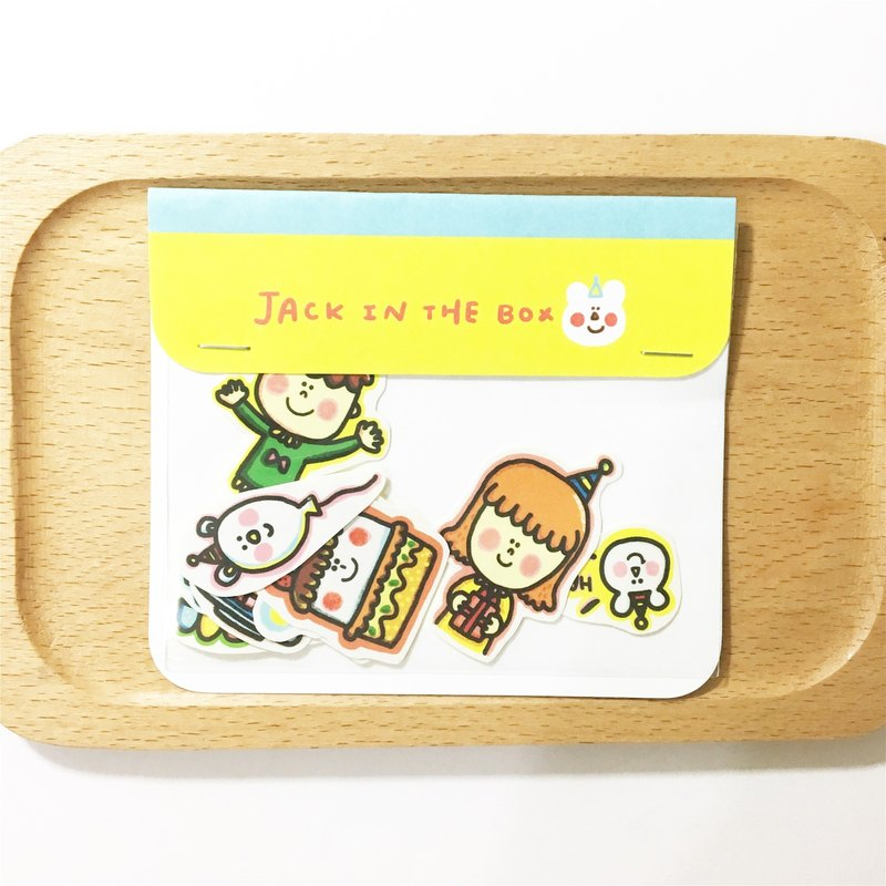 JACK IN THE BOX Happy Birthday and Adventure Coop Sticker Set