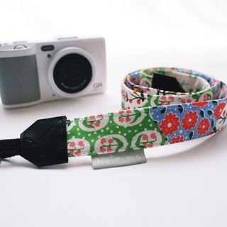 hairmo. Rural flowers double stitching back Strap / phone zone - (double holes)