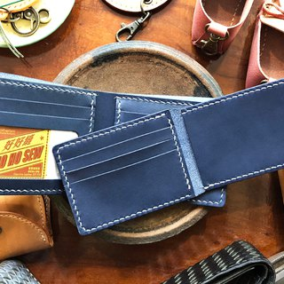 8 inch photo loose-leaf short clip - well sew leather bag free lettering handmade bag couple wallet wallet short wallet short money simple and practical Italian leather vegetable tanned leather DIY