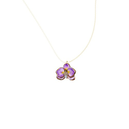 Handmade jewelry jewelry series orchid orchid necklace pre-order