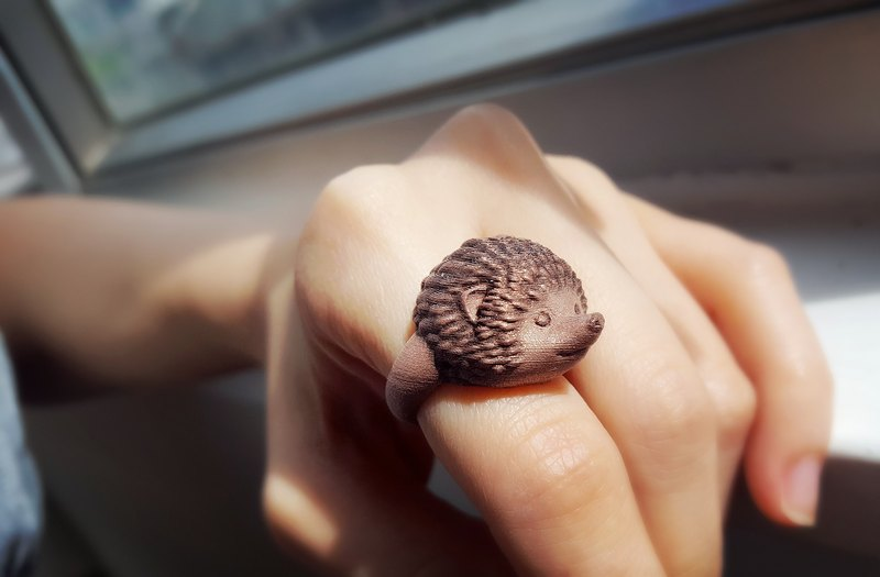 3D Print ~ Hedgehog Ring
